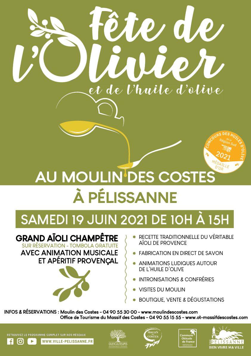 AFFICHE FÊTE DE L'OLIVIER ET DE L'HUILE D'OLIVE